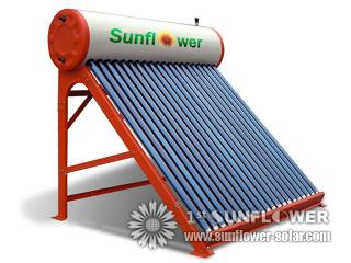 Solar Water Heaters with standing frame