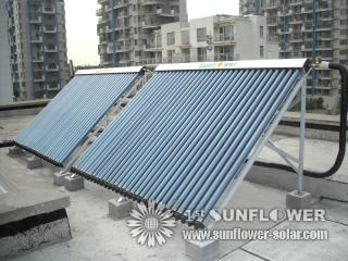 Solar Collector on flat roof