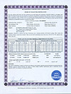 SF-B205818 SRCC certificate from ITW lab