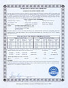 SF-B305818 SRCC certificate from ITW lab