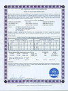 SF-B225818 SRCC certificate from ITW lab