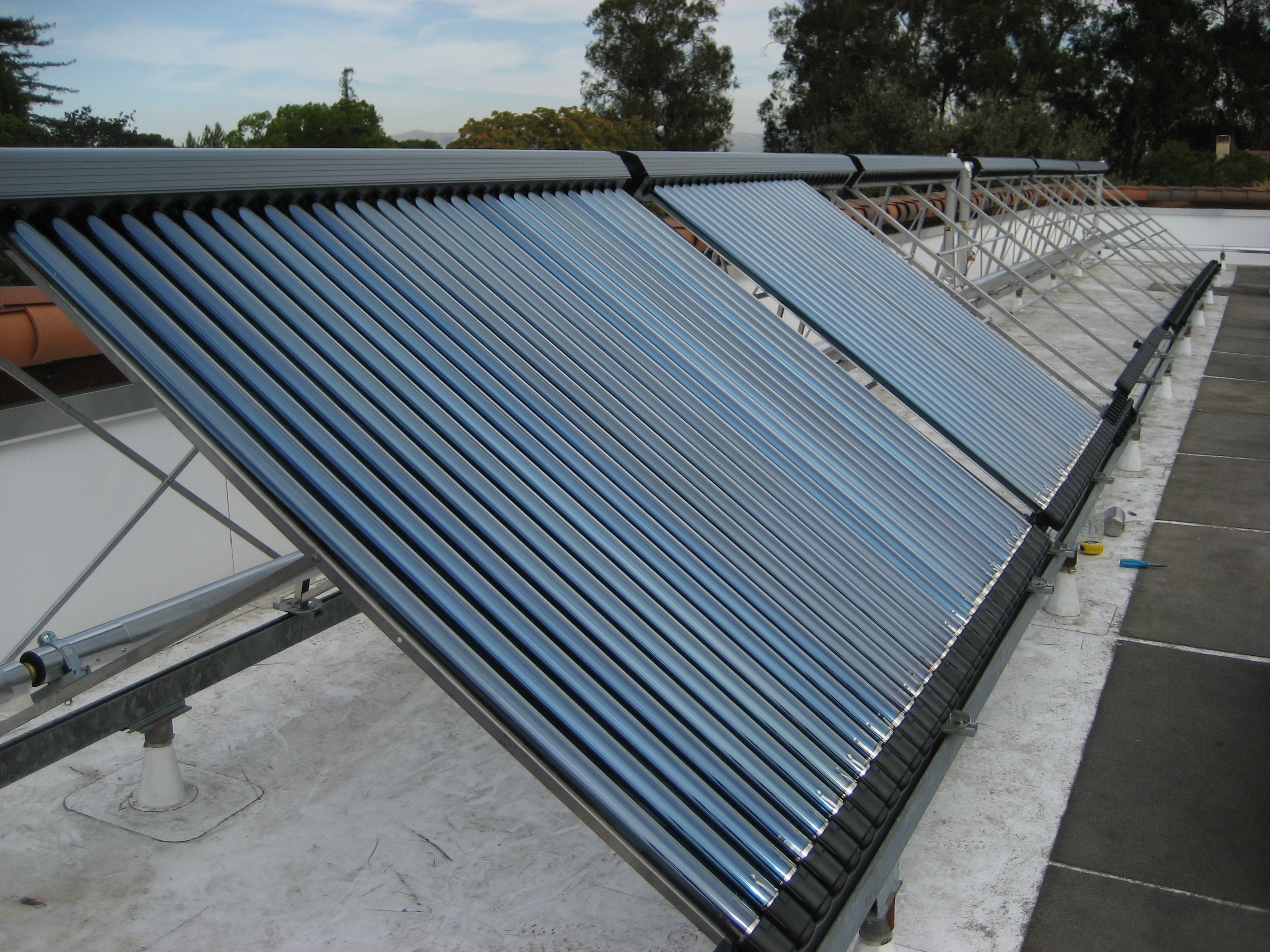 solar water heater, you will get your domestic hot water needs, and ...